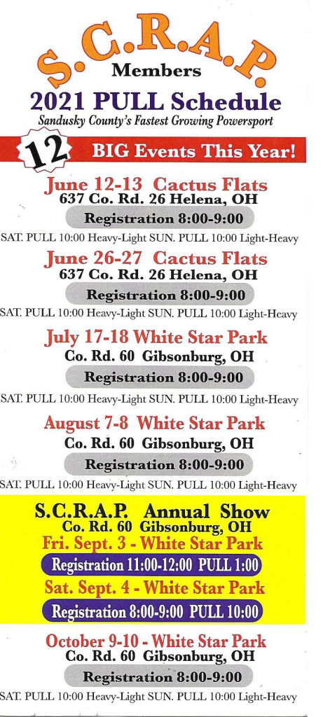 2021-Pull-Schedule-front page