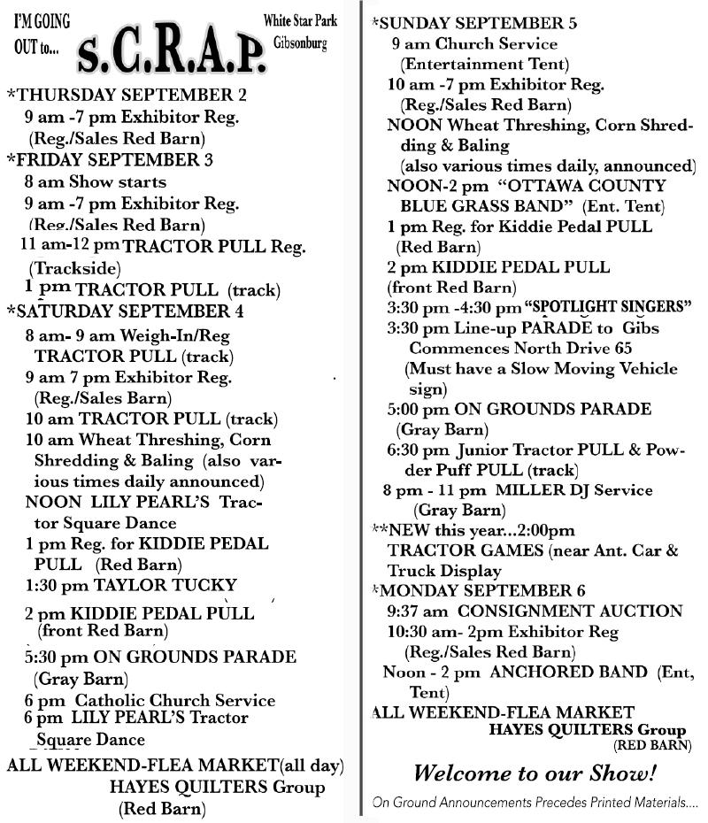 Rev. 8-25-21 Program Schedule